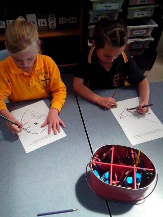 Student's coloring Antarctic animals